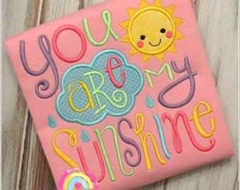 You Are My Sunshine - Girls Pajamas- Sunshine Pajamas - You are my Sunshine Pajamas - Pink Pajamas