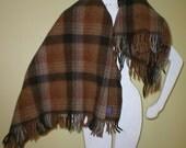 Pendleton Wool Blanket Throw Stadium Lap Camping Picnic 52x45  Vintage