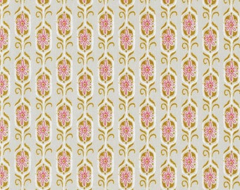 Tokyo Train Ride - Foxshrine Gold Red - Cotton + Steel - Sarah Watts - Available in Yards, Half Yards, Fat Quarters 20012-2