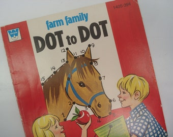 Dot to Dot book - 1974 activity book - great illustrations