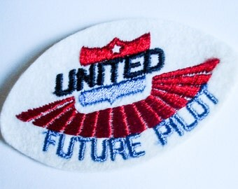 Vintage Future Pilot fabric patch - United airlines