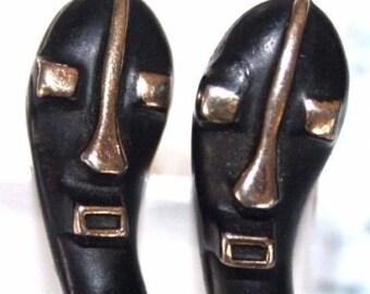 VIntage-Tiki-Head-Mask-Cuff-Links-SWANK