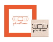 Get Well Soon Bandage Rubber Stamp