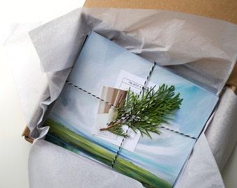 SALE Sky & Lands, set of 3 8x10 prints