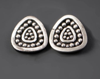 Triana Stud Post Sterling Silver Granulation Earrings