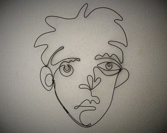 Male Wire Face- in black- 12inches by 12inches