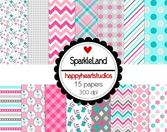 DigitalScrapbook SparkleLand -INSTANT DOWNLOAD