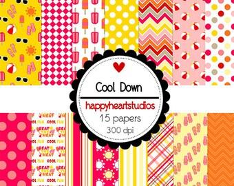 Digital Scrapbook  CoolDown-INSTANT DOWNLOAD