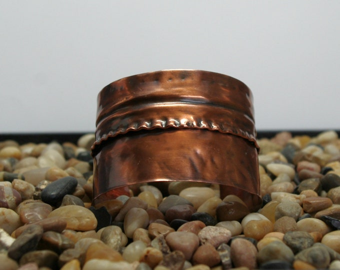 Copper Cuff Bracelet Fold Formed Jewelry