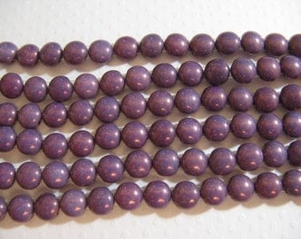 Candy Beads, 8mm 2 Hole beads designed to use with other Czech 2 hole beads - Purple Vega- 20 beads