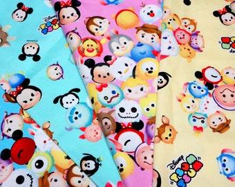 Disney Tsum Tsum fabric set of 4 fat quarters