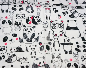 Panda print half meter  N132