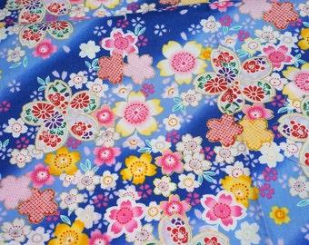 Kimono print Japanese fabric Sakura  (HAKO23A)