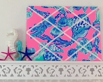 New memo board made with Lilly Pulitzer Barefoot Princess