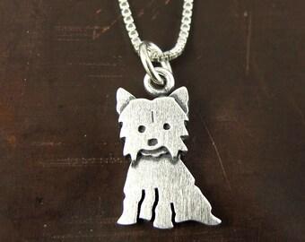Tiny Yorkie necklace / pendant