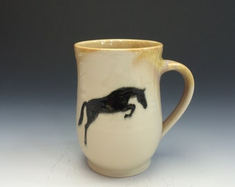 Jumping Horse Mug- Sunshine Yellow