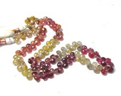 16 Inch Strand Natural Sapphire Briolettes Pink Red Purple Rare Silver Gold Champagne Beads 6mm