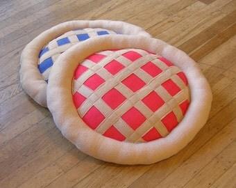 Cherry or Blueberry Pie Handmade Cat Bed