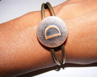 brass initial bracelet