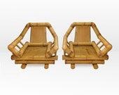 Mod Oversized Rattan Lounge Chairs