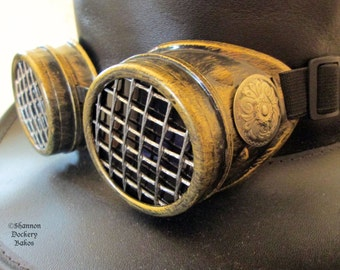 Steampunk Goggles Burning Man Cosplay Halloween Aviator Time Traveler Antique Bronze ~ Shannon Dockery Bakos
