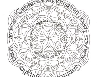 DIY Coloring Page - Celtic Mandala 2 - Instant Download