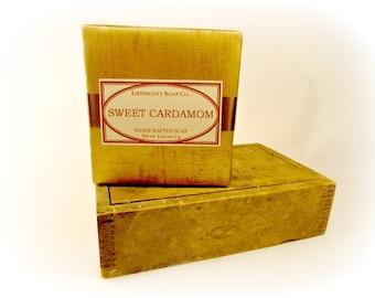 Sweet Cardamom Cold Process Soap, Handmade Soap, Bar Soap, Palm Oil Free, Phthalate Free, Cardamom, Pistachio, Maple Butter, Vanilla
