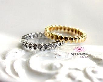 Stackable rings - Multi Rings Set - Gold and silver ring - Tiny Teardrop Wrap Around