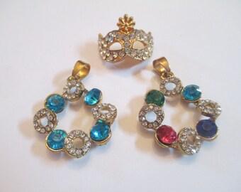 Three Crystal Pendants Womens Jewelry