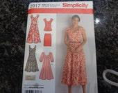Simplicity dress, skirt and top pattern