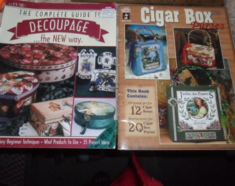 Just Reduced - Vintage Booklets on Making Cigar Box Purses & Decoupaging
