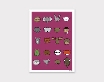 Animals Print - Purple