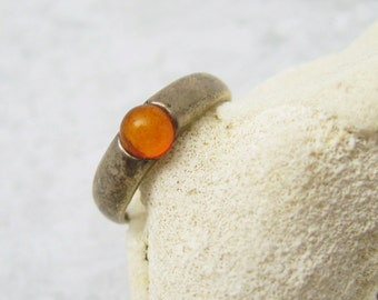Sterling Amber Ring Vintage Jewelry R6953