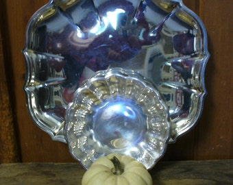 2 Silver Serving Dishes