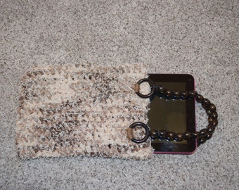 Brown/White Purse/Tablet Case