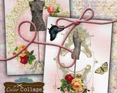 Shabby Dress Forms Digital Collage Sheet Large Decoupage Paper for Home Decor, Craft Projects, Scrapbooking, Journalling, Calico Collage