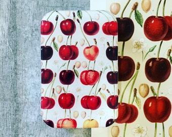 Cherry tin,  Notions tin, treasure box, jewellery box
