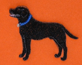 Custom Can Holder with Labrador Retriever Male or Female - Machine Embroidery with A Custom Name  Choose size, font, colors.