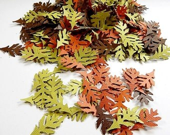 Fall Leaves, Oak leaves, Paper Leaves Confetti, Table Scatter, Thanksgiving Confetti, Holiday Confetti, Leaf Confetti, Set of 300 Leaves