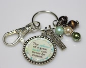 GIFT FOR TEACHER, The Influence of a Great Teacher Can Never Be Erased, Teacher Gift, Teacher Keychain