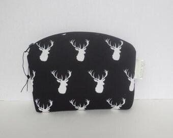 Deer Case - MMJ case - Cosmetic Case - Zip Pouch - Deer Fabric - Essential Oil Case
