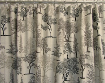 Grey shower curtain etsy Nature inspired shower curtains
