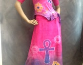 Sing for Sudan long skirt and top size medium Kemet art to wear one of a kind