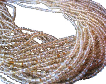 Citrine Beads, 2-2.5mm Smooth Round, Non Faceted, November Birthstone, Yellow Gemstone Beads, Loveofjewelry, SKU 3169