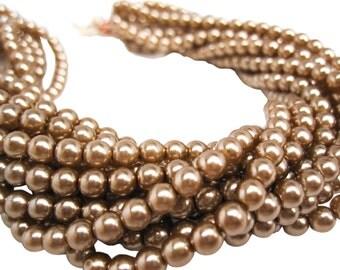Czech Pearls, Czech Glass Pearls, Beige Czech Pearls, SKU 4725