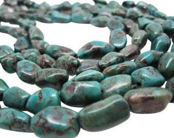 Turquoise Nugget, Turquoise Beads, Green Blue Turquoise, December Birthstone, SKU 4531A