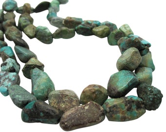 Turquoise Nugget, Turquoise Beads, Blue Turquoise, December Birthstone, SKU 5158A