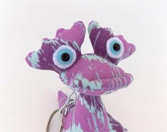 Dragon Keychain, Dragon Toy, Cute Keychain, Alien Keychain, Monster Keychain, Stocking Stuffer by Adopt an Alien named Vange