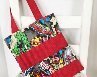 Marvel Superhero Crayon Bag Children Coloring Tote Boys Birthday Gift Superhero Comics Quiet Bag Kids Art Gift