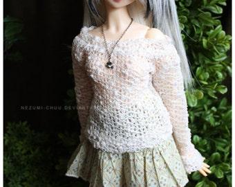 Summer Sale! ABJD Dollfie SD CP Delf Musedoll cute boat neck bubble sweater